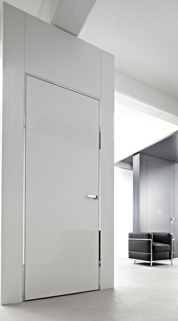 Moderne innentüren  Materialmix: moderne Innentüren mit Aluminiumzargen
