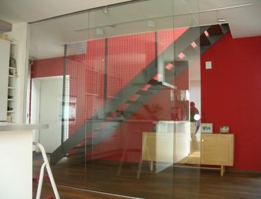 Glasschiebeanlage für ein Architektenhaus in Ingolstadt