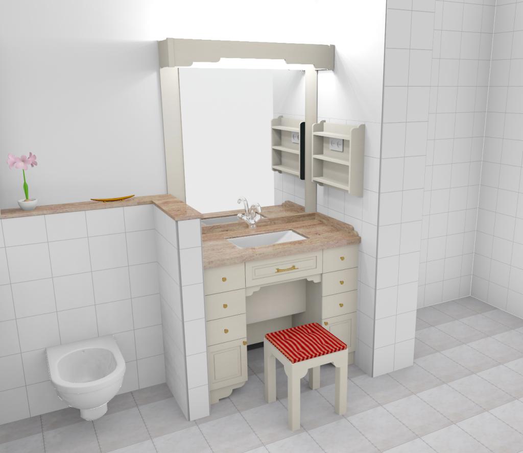 Fotorealistische Darstellung eines Waschtisches