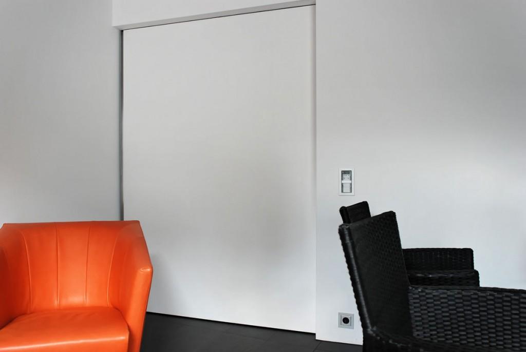 Tapetentür schlichte schiebetüren im modernen design fast unsichtbar tapetentür